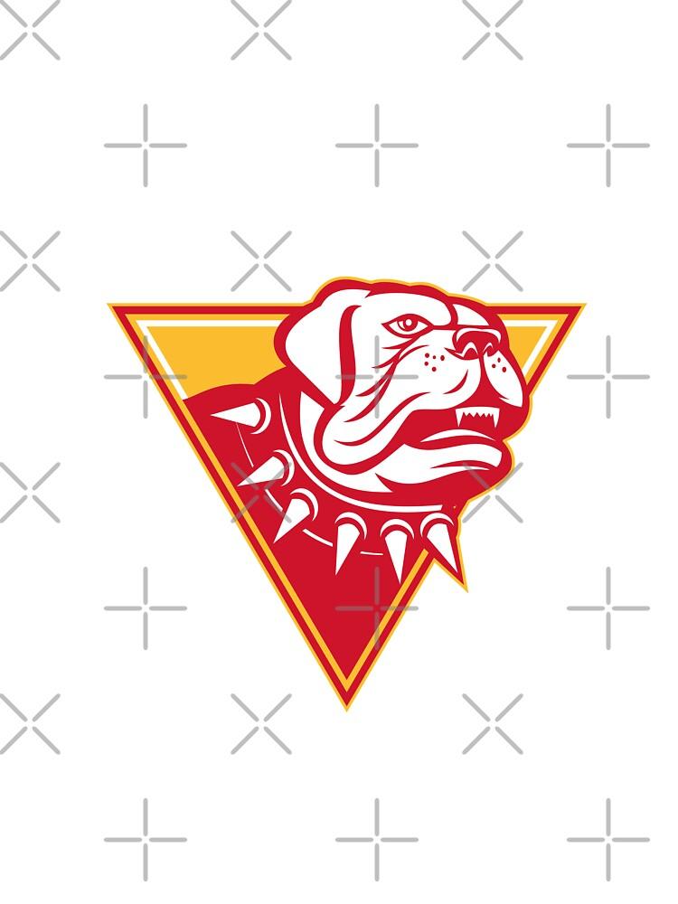 English Mastiff Dog Mongrel Head by patrimonio