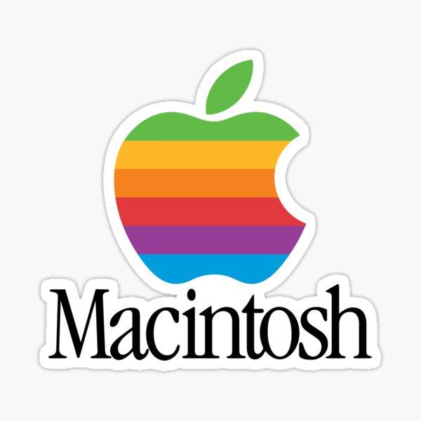 Macintosh Retro Logo Sticker