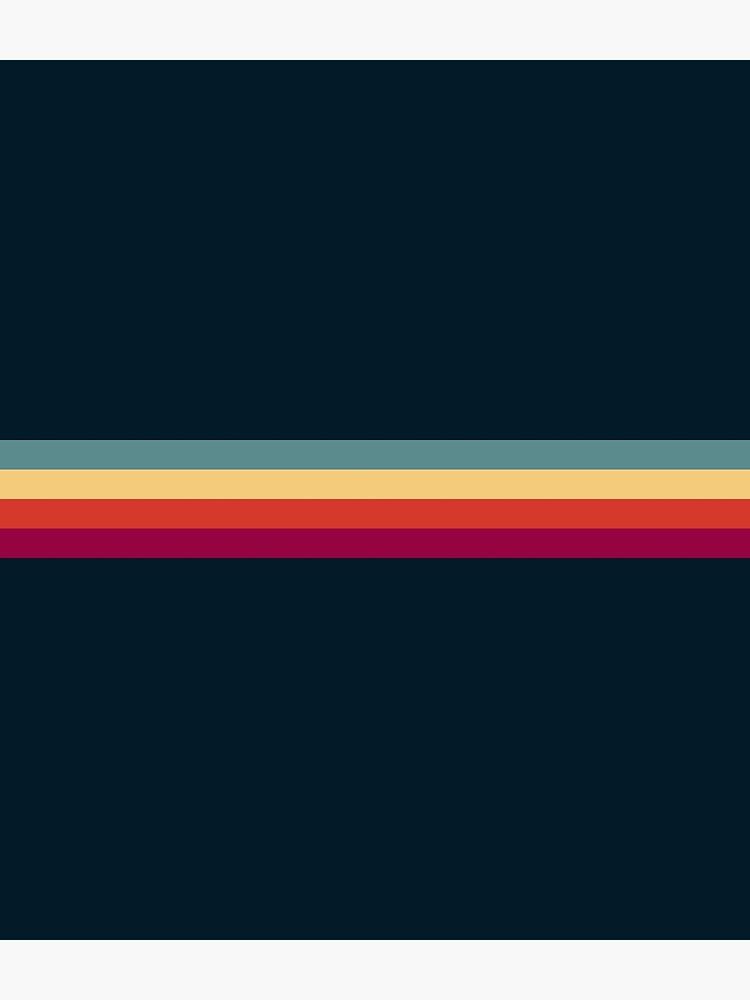 Vintage Style Retro Summer Stripes Thunderbird by OmegaAlpha