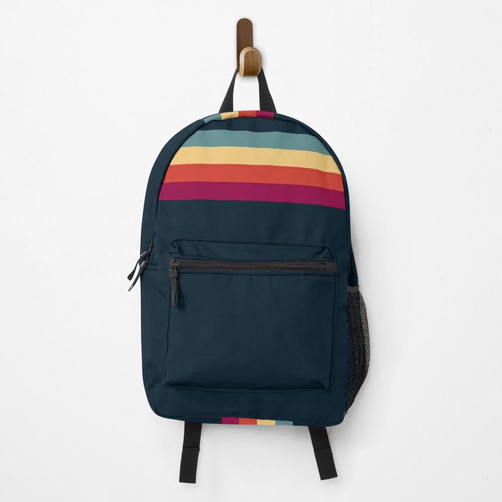 Vintage Style Retro Summer Stripes Thunderbird Backpack