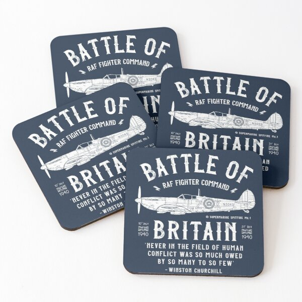 Battle of Britain - Spitfire Coasters (Set of 4)