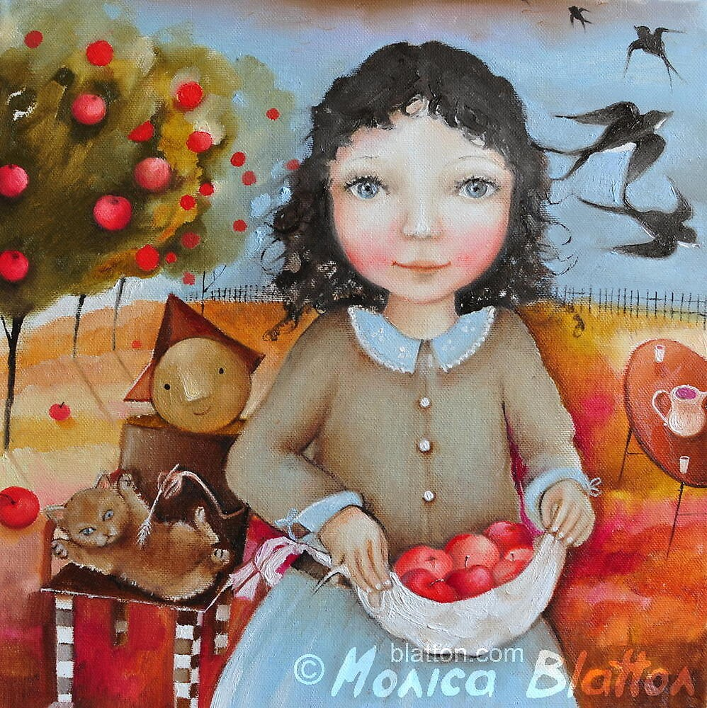 Pinafore Full Of Apples by Monica Blatton