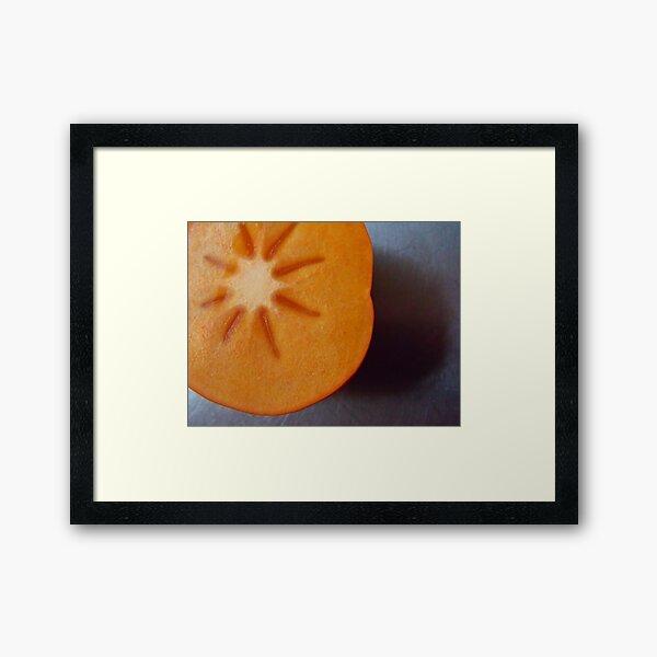 225/365 persimmon  Framed Art Print