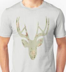 unknown deer head floral addition 1 Unisex T-Shirt
