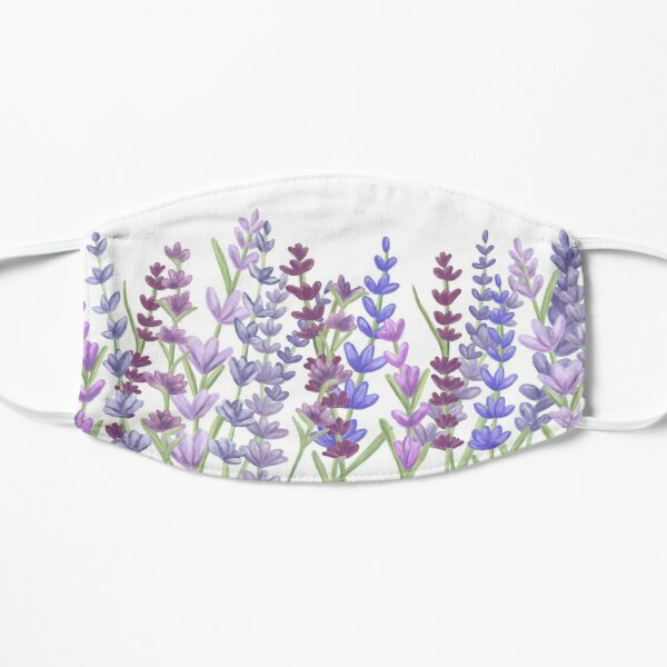 Watercolour painting of lavender - Purple painting Mask