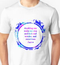 Kurt Vonnegut Learning Quote Design Unisex T-Shirt