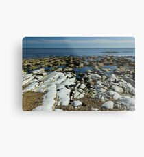 Wave to the Beach Metal Print