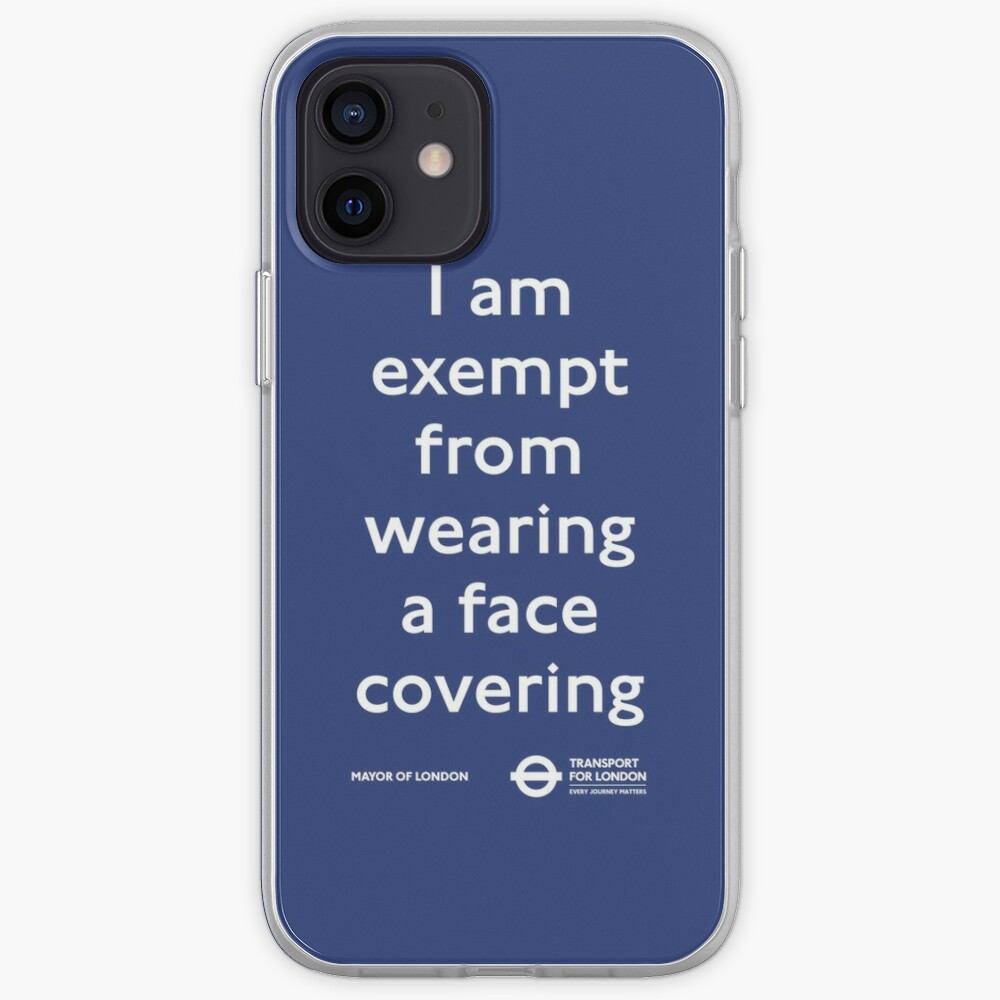 I Am Exempt From Wearing a Face Covering Sticker Mobile Phone Social Distancing