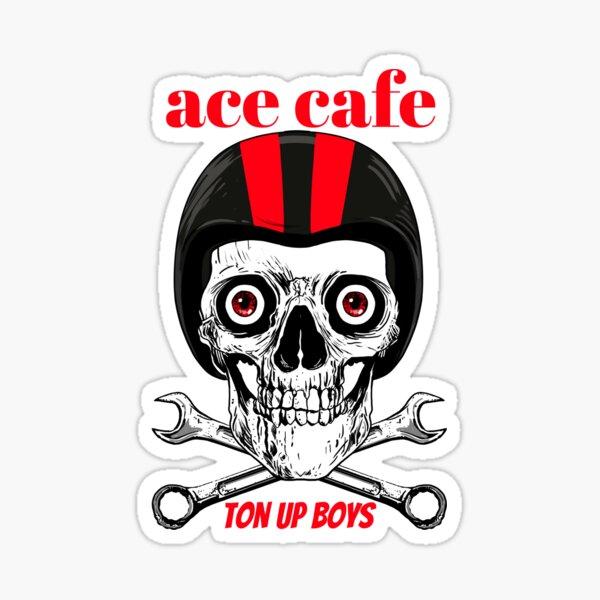 CAFE RACER Ace de pique logo 750 autocollants
