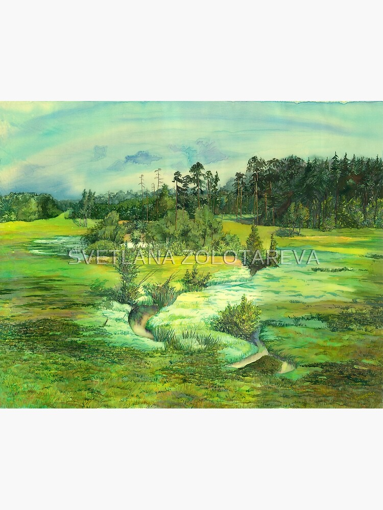 green valley Watercolor  by SVZOLOTAREVA