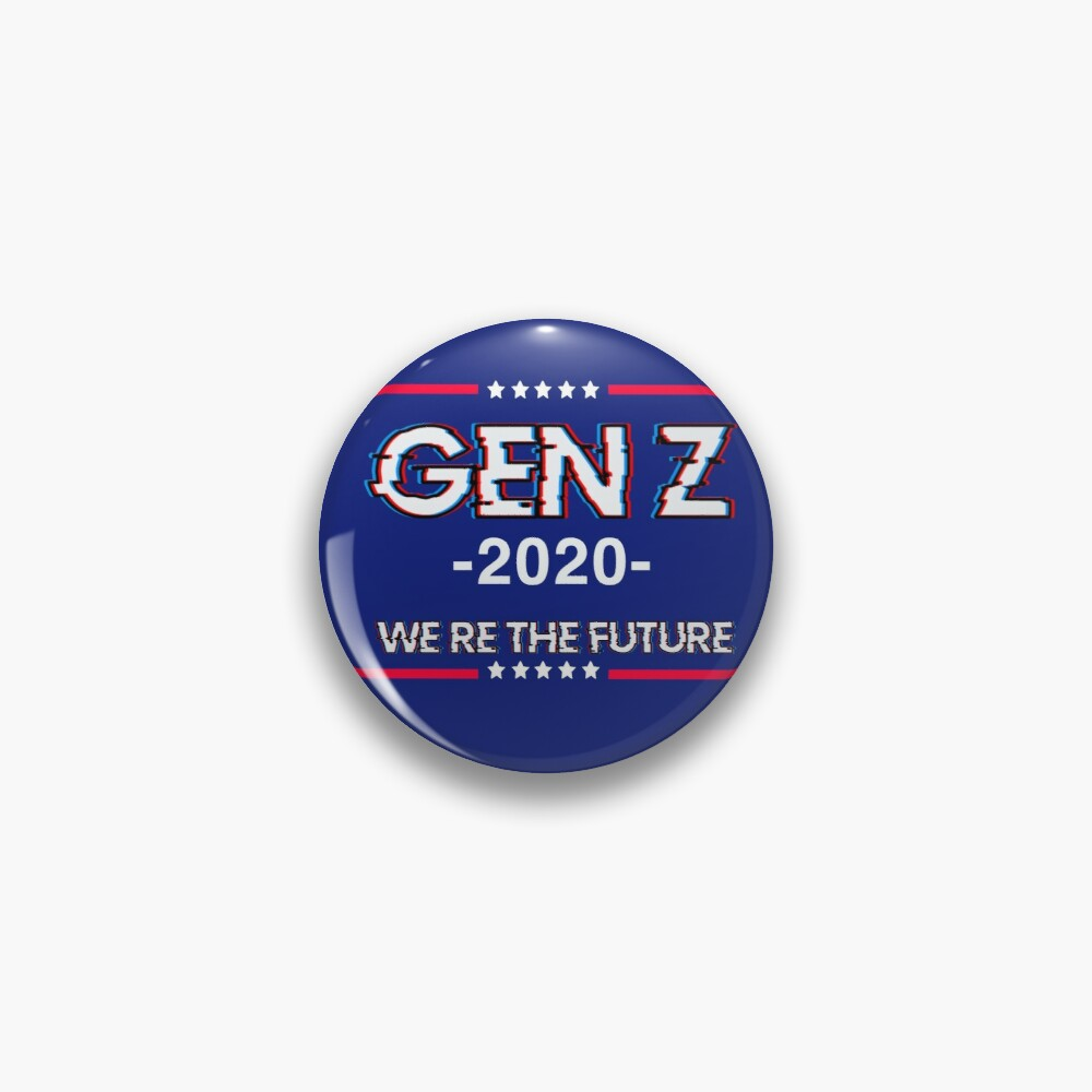 Gen Z 'we're the future' flag Pin
