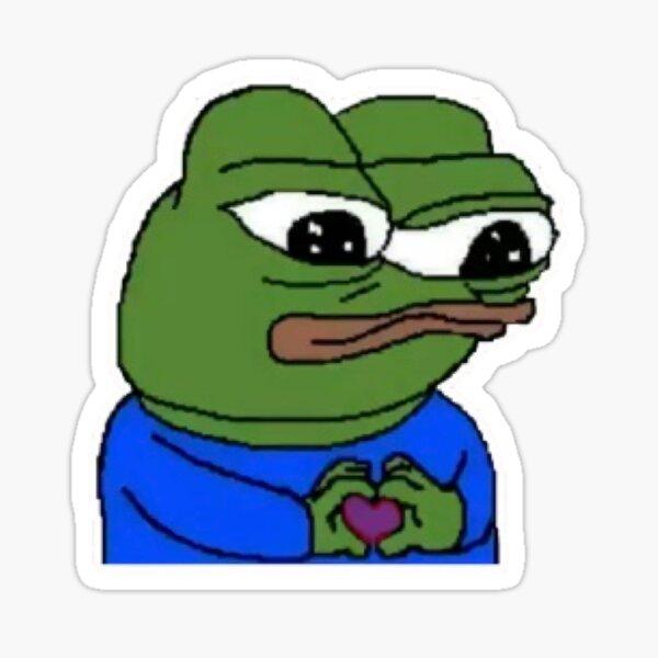 Sad loving Pepe The frog Meme Sticker