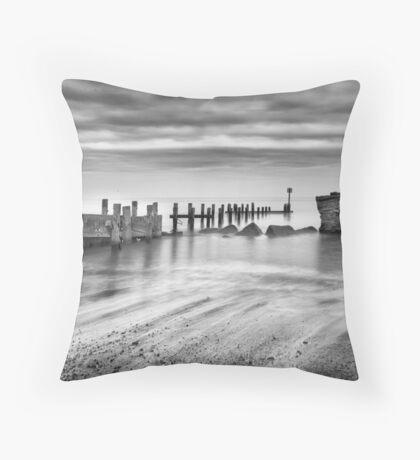 Beach Defences Throw Pillow
