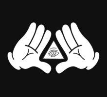 illuminati Mickey hands | Unisex T-Shirt