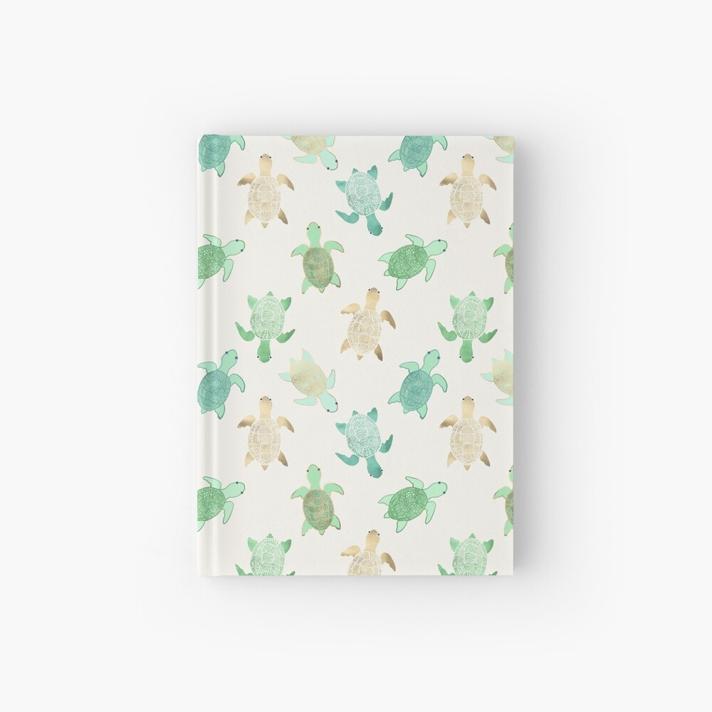 Gilded Jade & Mint Turtles Hardcover Journal