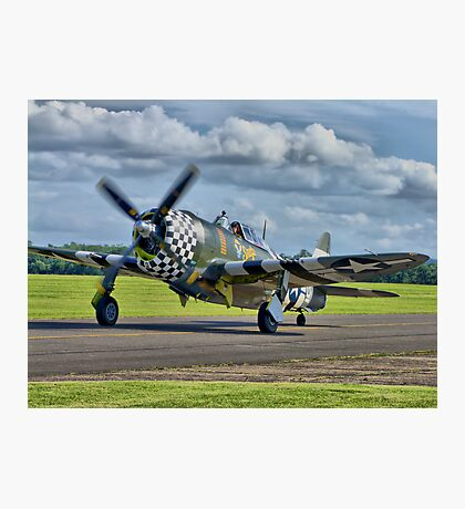 Snafu -Flying Legends 2012 - HDR Photographic Print