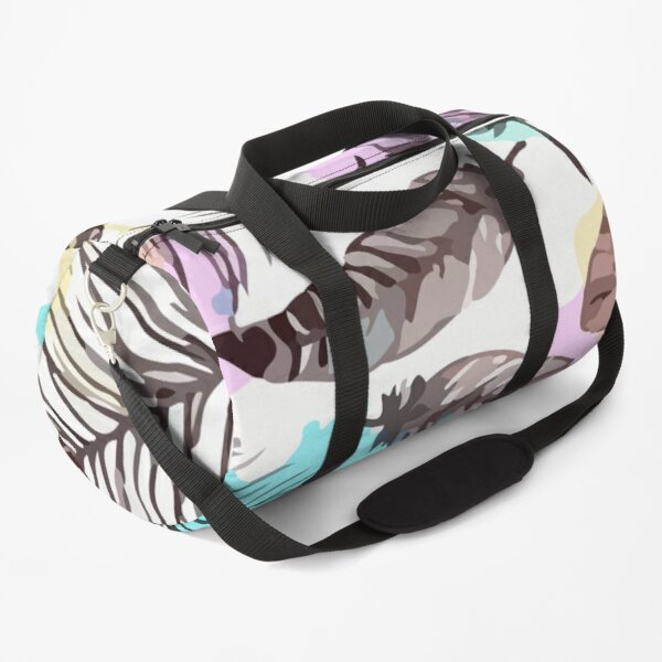 Hand drawn feathers seamless pattern Duffle Bag