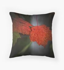 Colored Leaves Throw Pillow