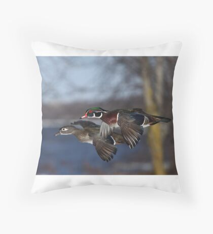 Together Forever - Wood Ducks Throw Pillow