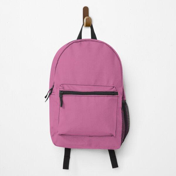 Violet Plain Solid Color Background , Palevioletred color  Backpack