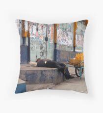 People 4198 La Paz, Bolivia Throw Pillow