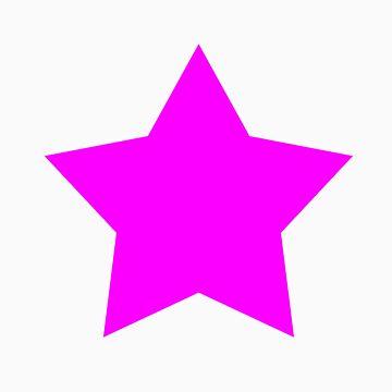 Pink Emo Star by rawrclothing