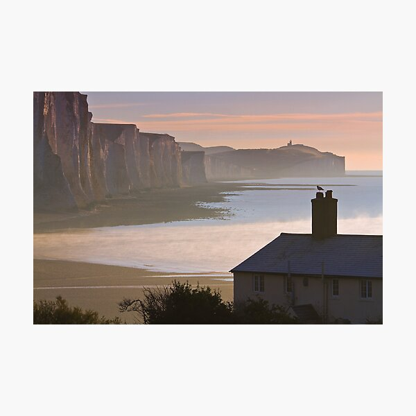 Sussex coast guard cottages Photographic Print