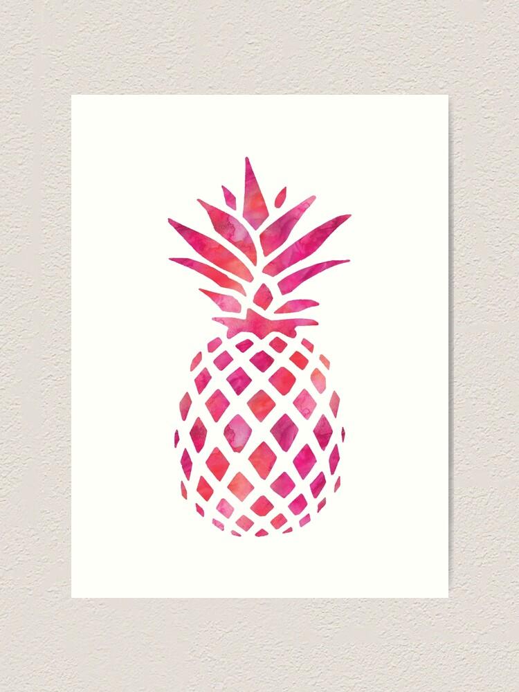 Pineapple Watercolor Mandala Print
