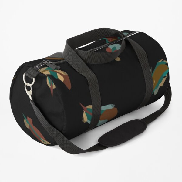 Seamless pattern of colored feathers Duffle Bag