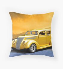 1937 Ford Sedan 24ct. Gold Throw Pillow