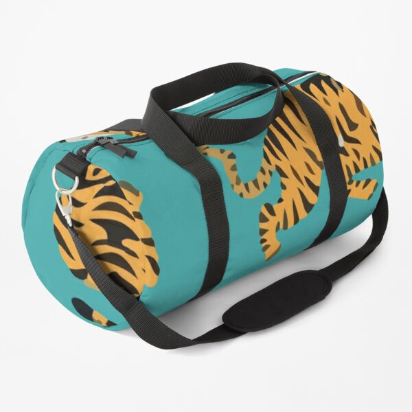 Seamless pattern with cute tigers Duffle Bag