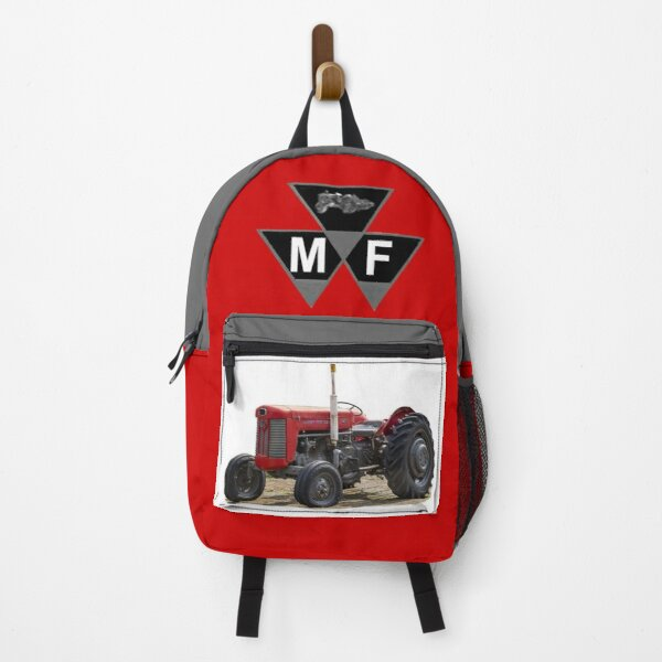 Red vintage tractor Backpack