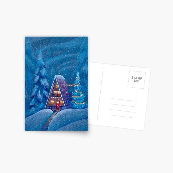 Winter house Postcard