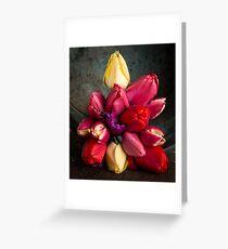 Fresh Spring Tulips Still Life Greeting Card