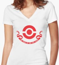 We hope to see you again - Red Women's Fitted V-Neck T-Shirt
