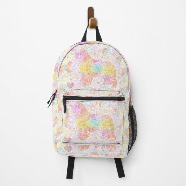 Fancy Dahlia Newfie Pattern Backpack