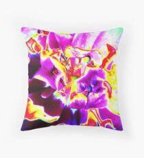 Floral Tie Dye  Throw Pillow
