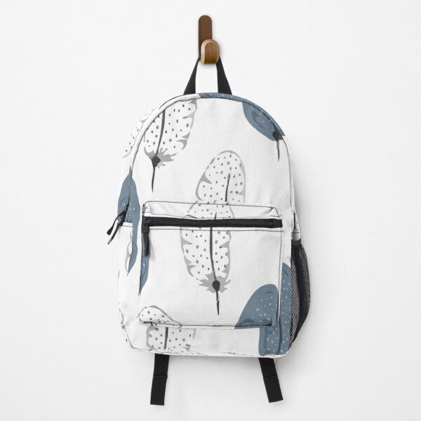 Vector seamless pattern with feathers Backpack