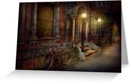 Bike - NY - Greenwich Village - In the village  by Michael Savad