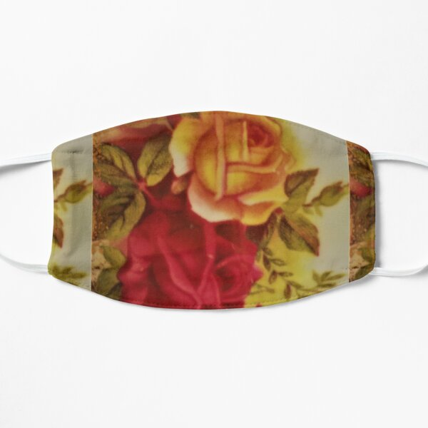 country rose yellow and pink design Mask