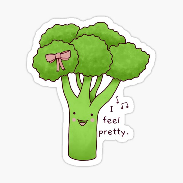 Cute Singing Broccoli Sticker