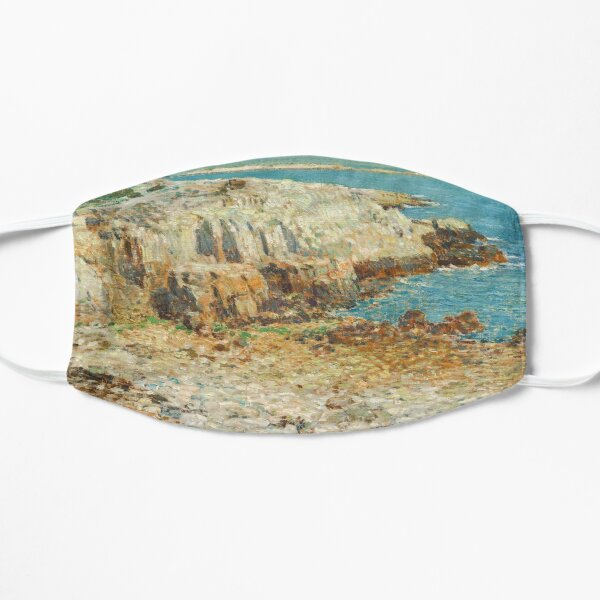 A North East Headland Oil Painting by Childe Hassam Flat Mask