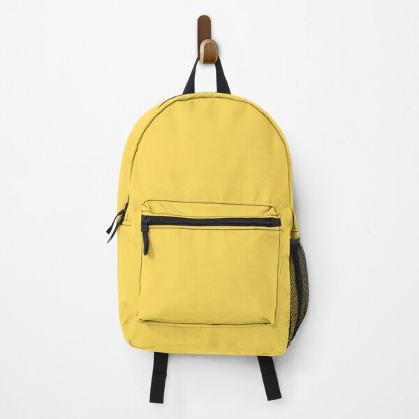 Mustard Yellow Solid Color Backpack