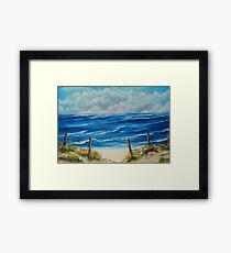 Fanore Beach, County Clare - oil painting Framed Print