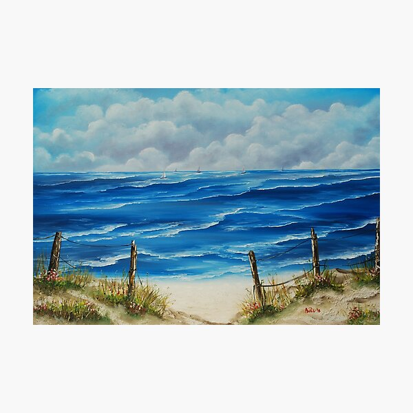 Fanore Beach, County Clare - oil painting Photographic Print