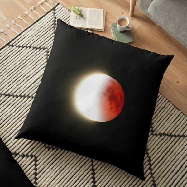 Blood Moon Prophecy Eclipse Floor Pillow