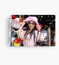 Vivi in the Pink Hat Canvas Print