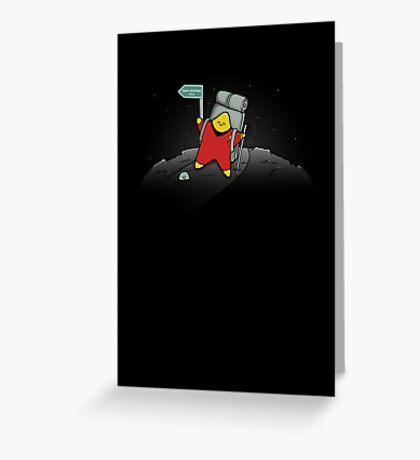 Star Trekking Greeting Card