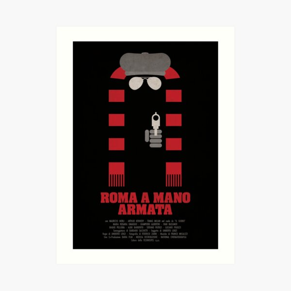 Roma a Mano Armata - Minimalist Movie Poster Art Print