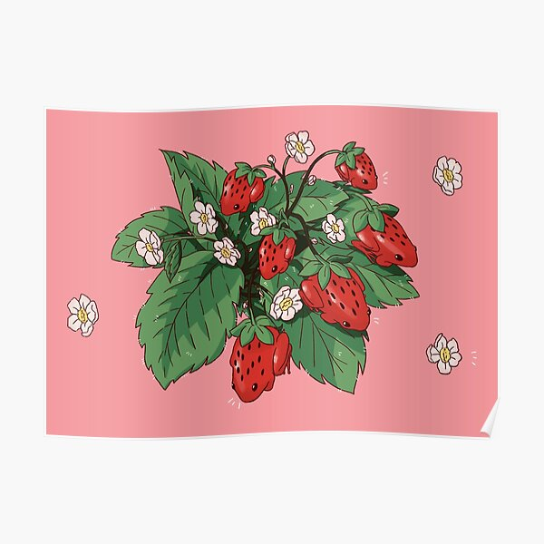 Strawberry Frog Poster